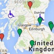 map showing location of holiday caravans for the disabled