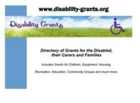 A4 poster for Disability Grants
