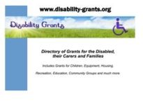 A5 poster for Disability Grants