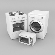cooker washing machine and microwave