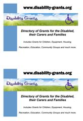 A5 poster on A4 for Disability Grants