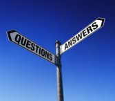 Signpost with pointers to Questions and Answers