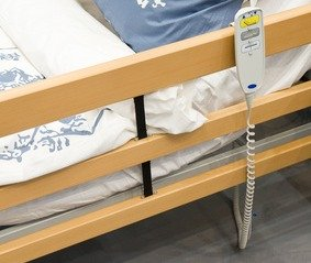 adjustable bed with high low controls