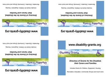 A6 postcards on A4 for Disability Grants