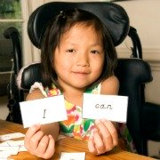 Disabled child with