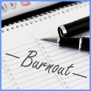 The word Burnout written on a calender