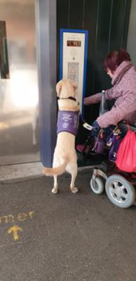 Herman helping with lift at train station