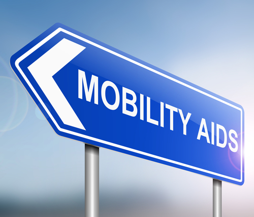 mobility aids road sign