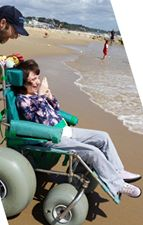 We also still have our old style wheelchairs which are used for moving around the sand easily and light paddling